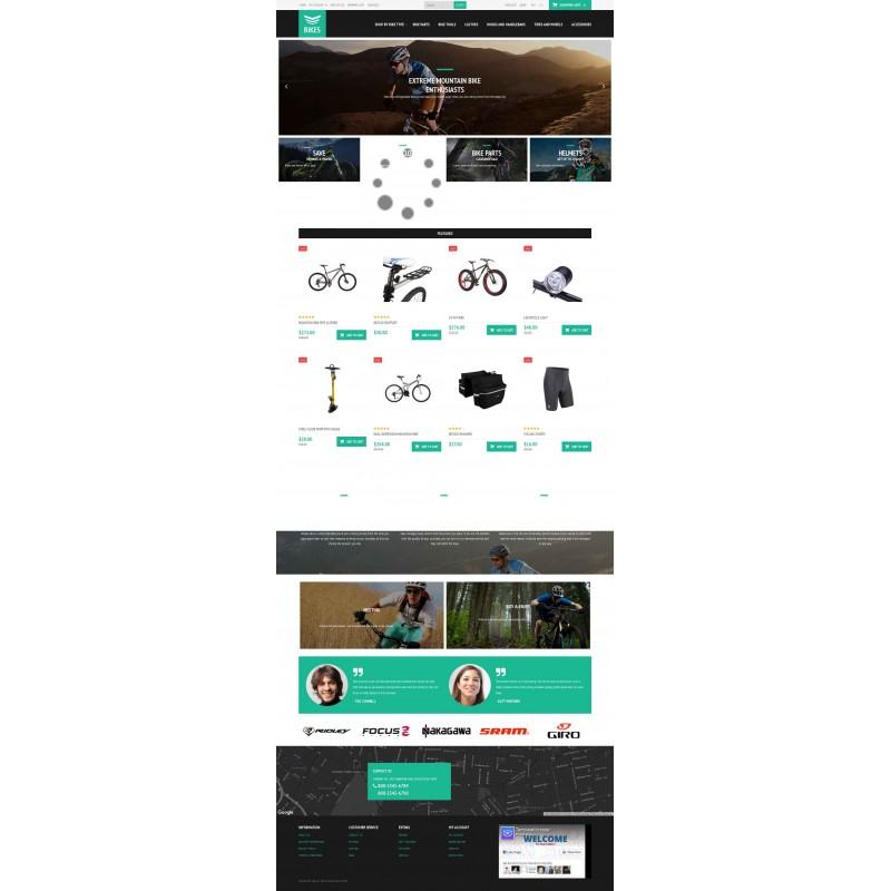 قالب فروشگاه دوچرخه اپن کارت نسخه 2