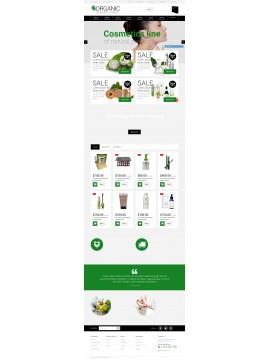 قالب محصولات اورگانیک اپن کارت
